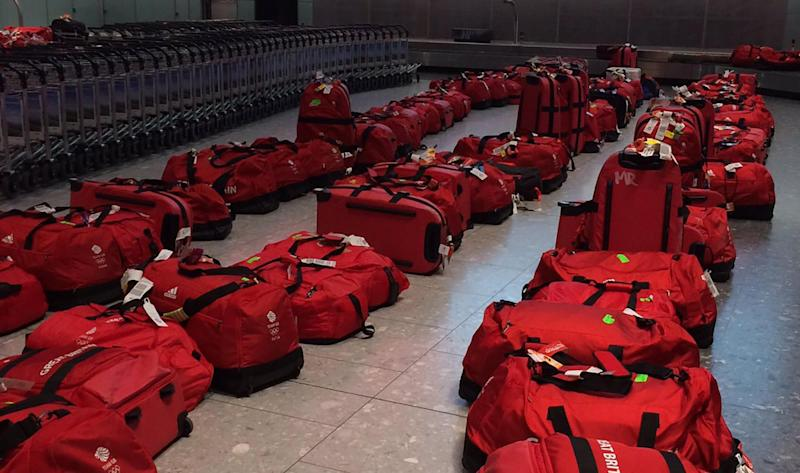 All These Olympic Athletes Had Identical Matching Bags So Baggage Claim Was Impossible