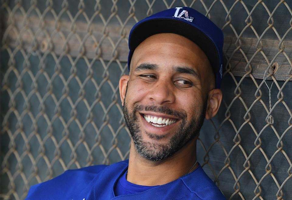 Los Angeles Dodgers starting pitcher David Price (33) sits in the dugout during spring training at Camelback Ranch. Mandatory Credit: Jayne Kamin-Oncea-USA TODAY Sports