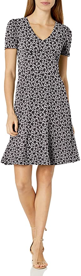 """<br><br><strong>Lark & Ro</strong> V-Neck Gathered Fit and Flare Dress, $, available at <a href=""""https://amzn.to/2M72Guh"""" rel=""""nofollow noopener"""" target=""""_blank"""" data-ylk=""""slk:Amazon Fashion"""" class=""""link rapid-noclick-resp"""">Amazon Fashion</a>"""