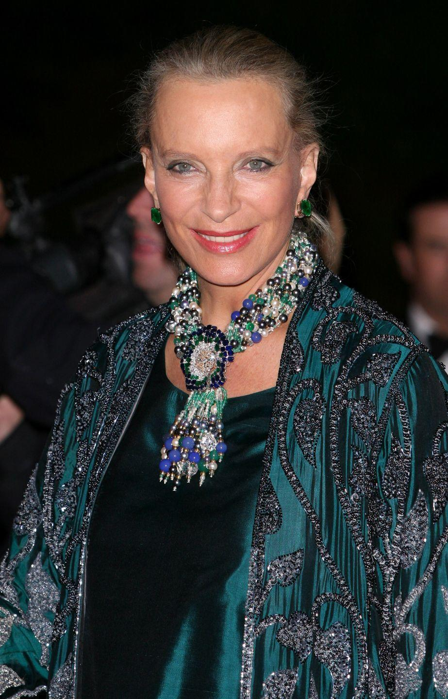 <p>Here, Princess Michael of Kent wears the Cartier pansy brooch as part of a necklace. </p>