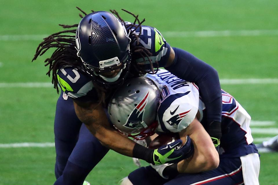 Richard Sherman has been a ballhawk in the NFL going back to his Legion of Boom days with the Seahawks. (Photo by Andy Lyons/Getty Images)