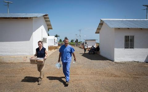 One of the UK-funded Ebola treatment centres in Kerry Town, Sierra Leone - Credit: Louis Leeson/Save the Children
