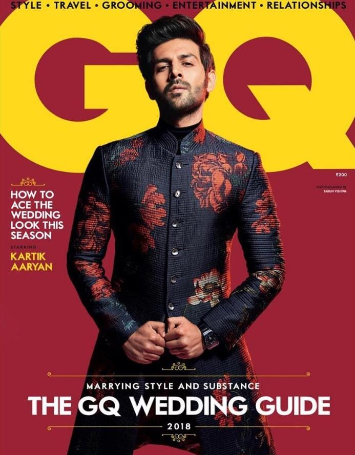 <p>There is a reason, and a solid one, why Sara Ali Khan expressed her desire to date him. It takes a very special man, one with a comanding confidence and killer attitude, to feature on the cover of a glossy, draped in red flowers. Stylist Vijendra Bhardwaj did an amazing job bringing the ultra-macho out of the 'Sonu Ke Titu Ki Sweety' star who, until now, was recognized for his chocolate boyish looks. </p>