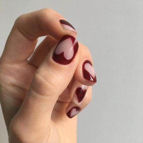 """<p>Nail artist Jessica Washick created this negative space heart design just in time for Valentine's Day.</p><p><a href=""""https://www.instagram.com/p/BtPRl_yFg4h/"""" rel=""""nofollow noopener"""" target=""""_blank"""" data-ylk=""""slk:See the original post on Instagram"""" class=""""link rapid-noclick-resp"""">See the original post on Instagram</a></p>"""