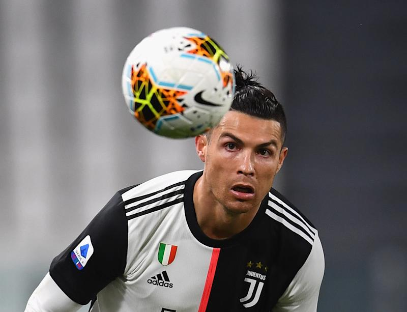 Cristiano Ronaldo of Juventus in action during the Serie A match between Juventus.