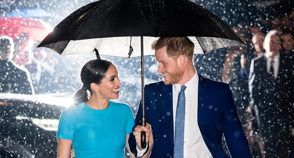 Harry and Meghan are not coming back to royal life. (Getty Images/Samir Hussain)