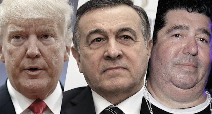 Donald Trump, Aras Agalarov and Rob Goldstone. (Photos: Sean Gallup/Getty Images; Sergei SavostyanovTASS via Getty Images; Adriel Reboh/Patrick McMullan via Getty Images)