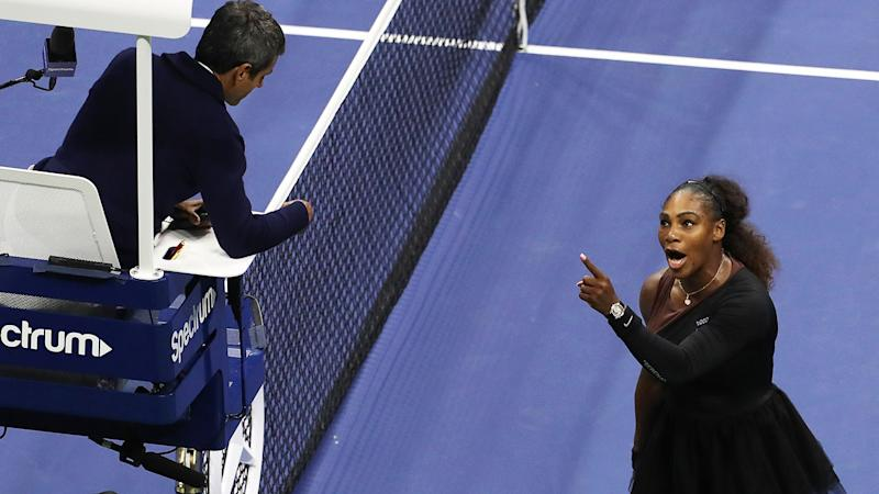 Serena Williams, pictured here clashing with Carlos Ramos at the 2018 US Open. (Photo by Jaime Lawson/Getty Images for USTA)