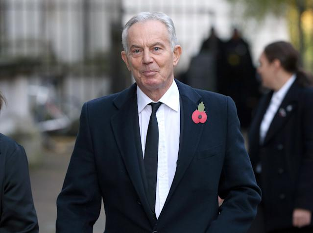 Tony Blair was among several former Prime Ministers set to attend the service in Whitehall (Picture: Jonathan Brady/PA Wire)