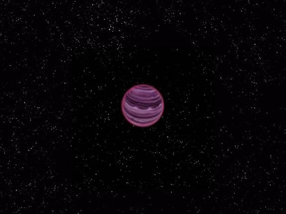 An artist's conception of the free-floating planet PSO J318.5-22.