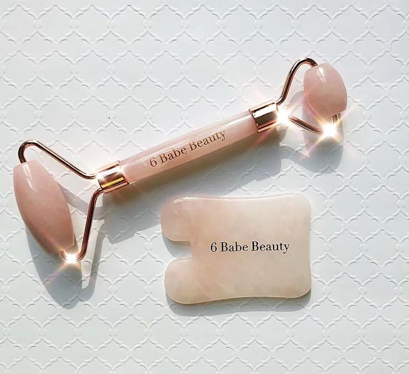 """For the friend who's obsessed with beauty and is willing to try any product to sculpt their face. <a href=""""https://www.6babebeauty.com/product-page/6babebeauty-facial-kit"""" target=""""_blank"""" rel=""""noopener noreferrer"""">Get it for $65 at 6BabeBeauty.</a>"""