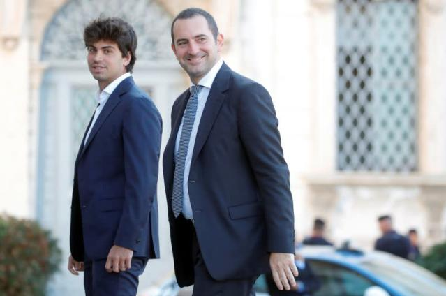 Spadafora arrives at Quirinale Presidential Palace in Rome