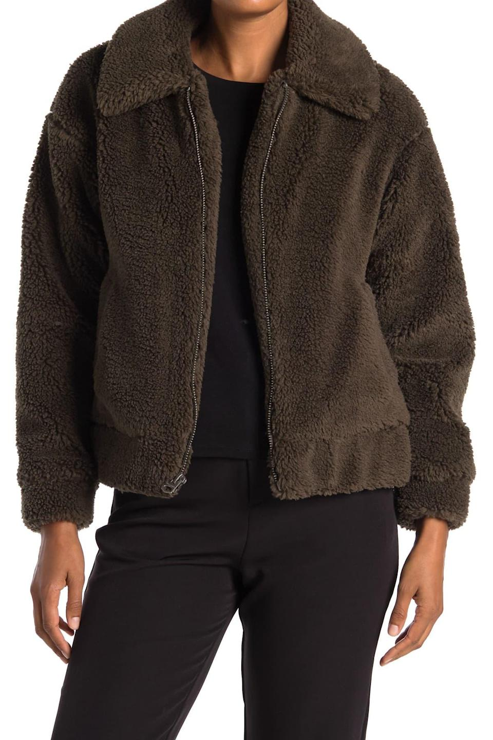 "<br><br><strong>Lucky Brand</strong> Short Faux Teddy Fur Jacket, $, available at <a href=""https://go.skimresources.com/?id=30283X879131&url=https%3A%2F%2Fwww.nordstromrack.com%2Fs%2Flucky-brand-short-faux-teddy-fur-jacket%2Fn3236158"" rel=""nofollow noopener"" target=""_blank"" data-ylk=""slk:Nordstrom Rack"" class=""link rapid-noclick-resp"">Nordstrom Rack</a>"