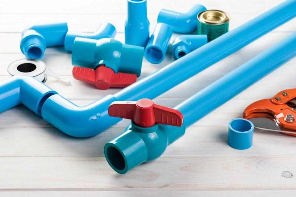 Are all your hair tools constantly getting tangled up in whatever drawer you squeeze them into? To better organize your bathroom, decorate a PVC pipe to match the room and hook it up on the wall near the mirror. That way, everything you need to get ready is right there waiting for you — and it fits your hair dryer, curling iron, and straightener perfectly.