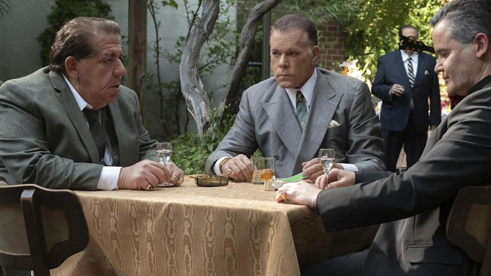 """Left to right: Joey Coco Diaz as Buddha, Ray Liotta as """"Hollywood Dick"""" and John Borras as Bishop. - Credit: Barry Wetcher/New Line Cinema/Warner Bros."""