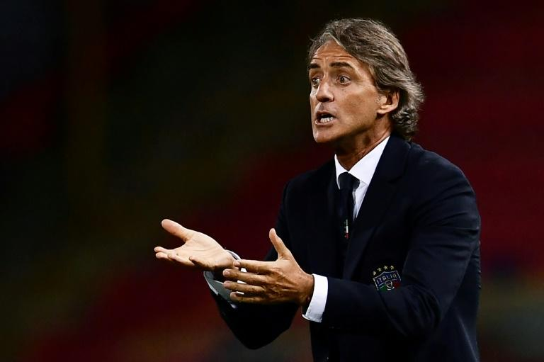 """We made too many mistakes,"" says Italy's coach Roberto Mancini after a 1-1 draw with Poland in their Champions League opener in Bologna"