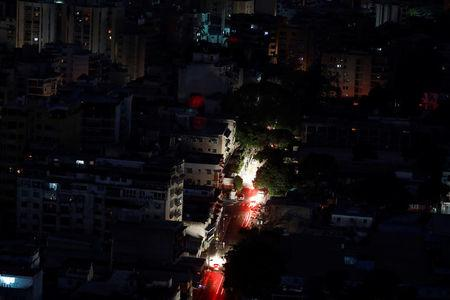 FILE PHOTO: A view of the city during a blackout in Caracas