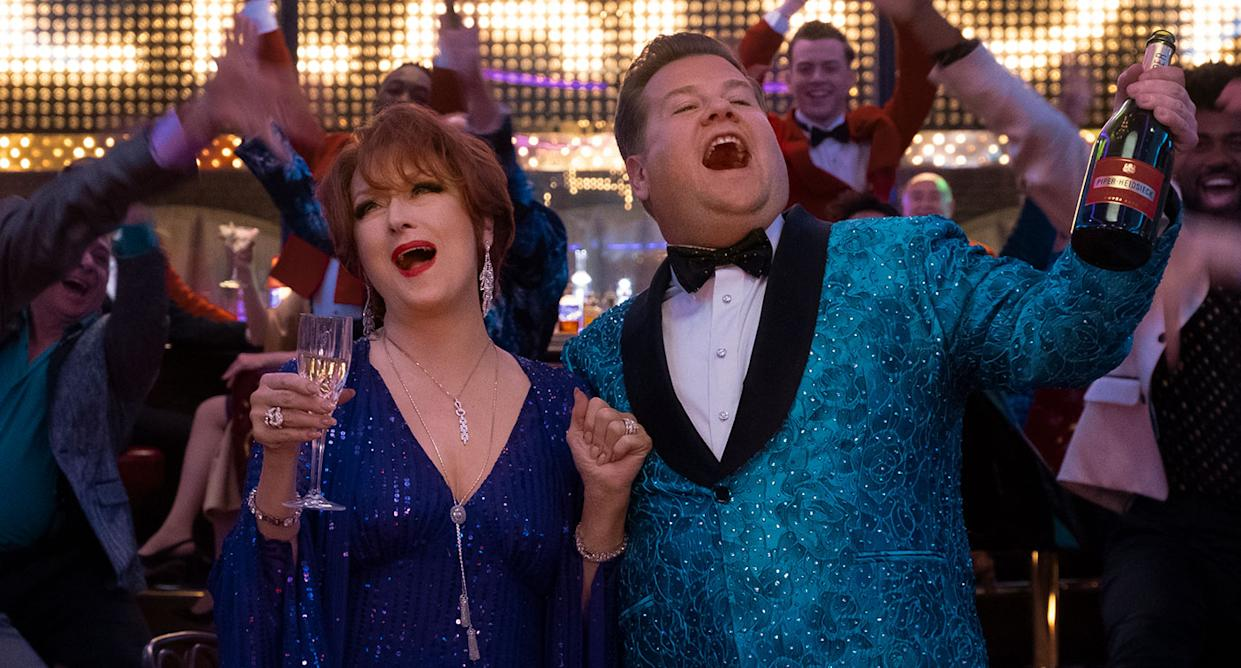 Meryl Streep and James Corden in The Prom (Netflix)