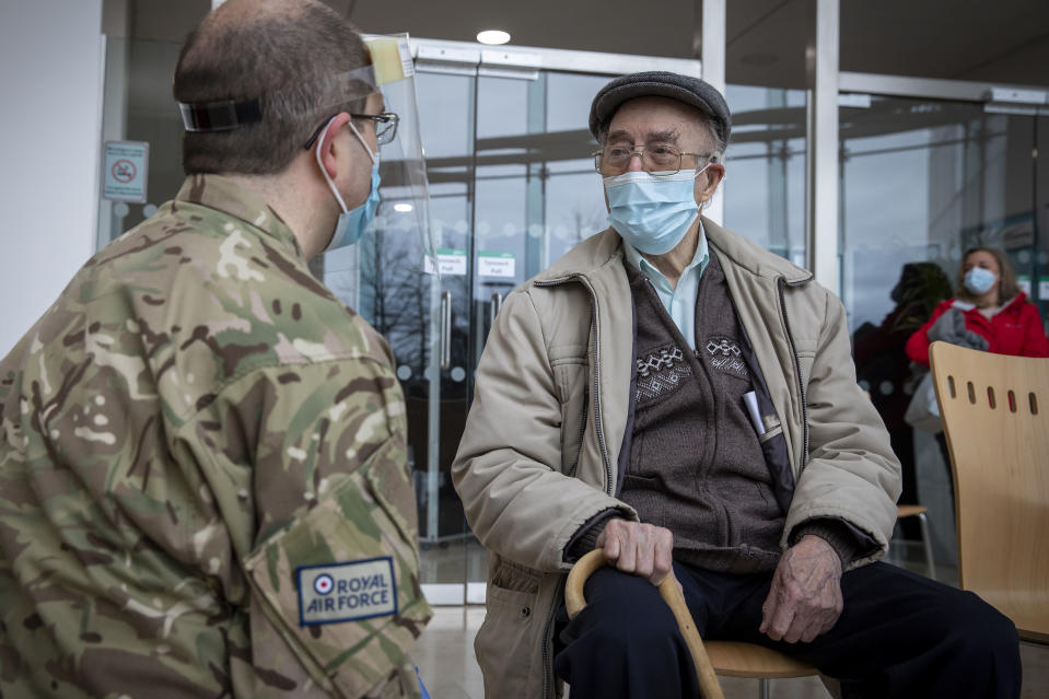 RAF veteran gets coronavirus vaccination