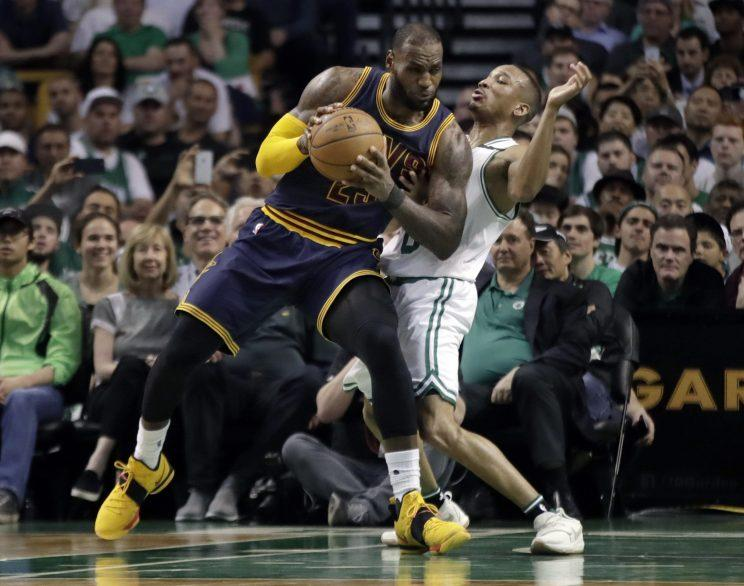 LeBron James and the Cavaliers handed the Celtics their worst-ever home playoff loss. (AP)