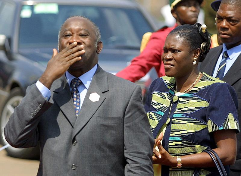 Then Ivory Coast president Laurent Gbagbo, pictured with his wife, Simone in Yaounde in 2001 (AFP Photo/Issouf Sanogo)