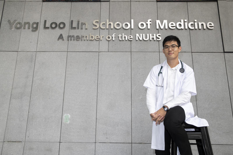 Mr Nicholas Chan, 23, the first Institute of Technical Education (ITE) student to make it to National University of Singapore's Yong Loo Lin School of Medicine. (PHOTO: Ministry of Communications and Information)
