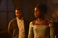 """<p><strong>The 1-Sentence Pitch:</strong> """"It takes place after the beautiful story we know and love, <em>Romeo and Juliet</em>, with the royal family of Verona deciding how to keep the Montagues and Capulets from breaking out into war because of what happened to their children,"""" explains Lashana Lynch, who plays Rosaline Capulet.<br><br><strong>What to Expect: </strong>To ensure peace in his city, Prince Escalus (Sterling Sulieman) orders Rosaline, Juliet's cousin, to marry Benvolio Montague (Wade Briggs), Romeo's cousin. But """"they hate each other,"""" Lynch says. Adds Briggs, """"This is a future he doesn't want. <em>But </em>there's a fantastic amount of electricity between these two personalities, and they end up being a lot more to one another than they realized initially."""" And complicating the whole plan is the fact that Rosaline and Prince Escalus are in love. """"It's a classic Shondaland love triangle,"""" Briggs notes.<br><br><strong>Modern Love: </strong>Though it's based on Shakespeare, <em>Still Star-Crossed</em> uses contemporary dialogue, and the characters are also updated. """"Rosaline is bold and feisty and fierce, like a modern girl in the 16th century,"""" Lynch says. Of course, Shakespeare's themes — like """"lust and revenge and all of those human desires,"""" says Lynch — are timeless. <em>— Kelly Woo</em><br><br>(Photo: Jose Haro/ABC) </p>"""