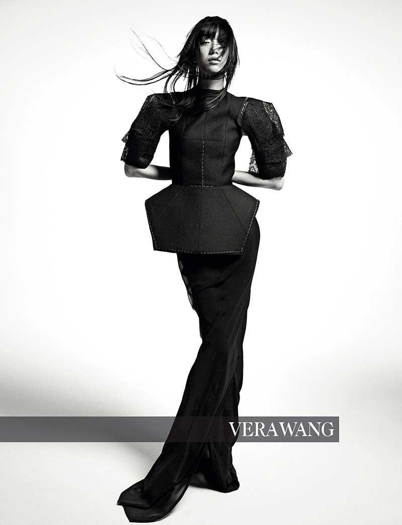 <p><strong>Model:</strong> Sora Choi<br><strong>Photographer:</strong> Inez and Vinoodh<br>(Photo: Courtesy of Vera Wang) </p>