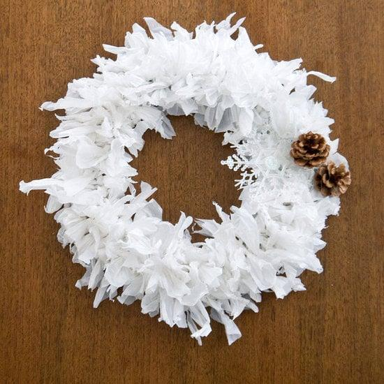 "<p>This wonderful, <a href=""https://www.popsugar.com/smart-living/Plastic-Bag-Holiday-Wreath-26263409"" class=""ga-track"" data-ga-category=""Related"" data-ga-label=""http://www.popsugar.com/smart-living/Plastic-Bag-Holiday-Wreath-26263409"" data-ga-action=""In-Line Links"">eco-friendly wreath</a> is made out of, get this, plastic bags!</p>"