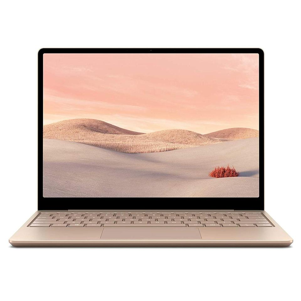 "<p><strong>Microsoft</strong></p><p>amazon.com</p><p><strong>$681.99</strong></p><p><a href=""https://www.amazon.com/dp/B08GZPDSF5?tag=syn-yahoo-20&ascsubtag=%5Bartid%7C2089.g.293%5Bsrc%7Cyahoo-us"" rel=""nofollow noopener"" target=""_blank"" data-ylk=""slk:Shop Now"" class=""link rapid-noclick-resp"">Shop Now</a></p><p>The Microsoft Surface Laptop Go is a great gift for anyone who needs a new PC. It has an impossibly elegant design with a 12.4-inch touchscreen, an all-metal build with amazing tactility, and solid hardware specs, all at a reasonable price. </p><p>Microsoft offers the Surface Laptop Go in sandstone, platinum, and ice blue. Save for the <a href=""https://go.redirectingat.com?id=74968X1596630&url=https%3A%2F%2Fwww.microsoft.com%2Fen-us%2Fstore%2Fconfigure%2FSurface-Laptop-Go%2F94FC0BDGQ7WV&sref=https%3A%2F%2Fwww.bestproducts.com%2Ftech%2Fgadgets%2Fg293%2Fbest-tech-gifts-at-every-price%2F"" rel=""nofollow noopener"" target=""_blank"" data-ylk=""slk:entry-level model"" class=""link rapid-noclick-resp"">entry-level model</a>, all variants have a built-in fingerprint sensor.</p><p><strong>More: </strong><a href=""https://www.bestproducts.com/tech/gadgets/a27045224/microsoft-surface-computer-guide/"" rel=""nofollow noopener"" target=""_blank"" data-ylk=""slk:Read This Guide Before Buying Your New Microsoft Surface"" class=""link rapid-noclick-resp"">Read This Guide Before Buying Your New Microsoft Surface</a></p>"