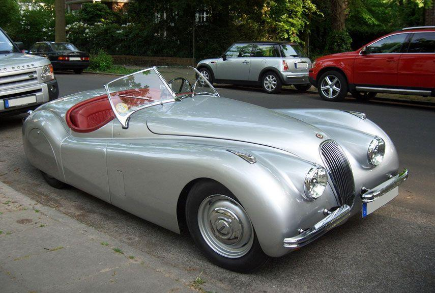 <p>The definitive postwar British car. The XK120's sleeker style greatly contrasts with the look of its prewar predecessor, the SS100.</p>