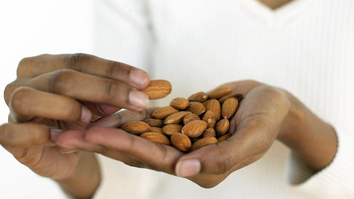 Almonds contain melatonin, which makes them a great bedtime snack.
