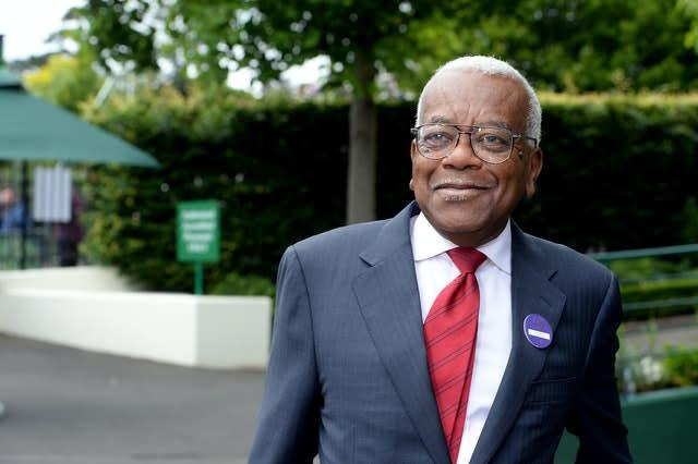 Sir Trevor McDonald is the outgoing president of Lord's Taverners (Anthony Devlin/PA)
