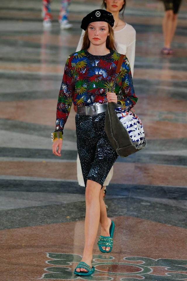 """<p>At itshistoric Cuba show, Chanelpresented embellished Lycra-ish shorts for the ultimate """"I'm on holiday, I don't need real pants"""" ensemble. Feels kind of '80s aerobics class, kind of unfinished, which is not a vibe I would be mad at.</p>"""