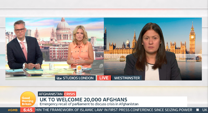 Richard Bacon co-hosted 'Good Morning Britain' with Charlotte Hawkins. (ITV)