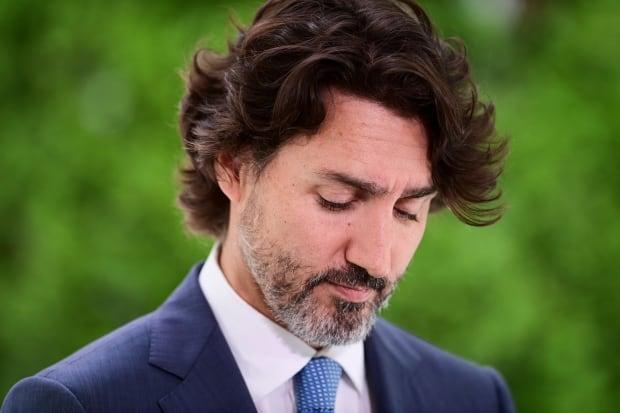 Prime Minister Justin Trudeau used the bulk of his Canada Day statement asking Canadians to reflect on historical injustices and commit to building a better country. (Sean Kilpatrick/The Canadian Press - image credit)