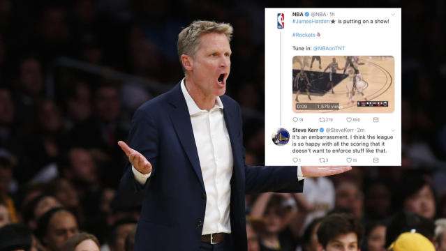 Warriors coach Steve Kerr deleted his response to the NBA on Thursday night. (AP)