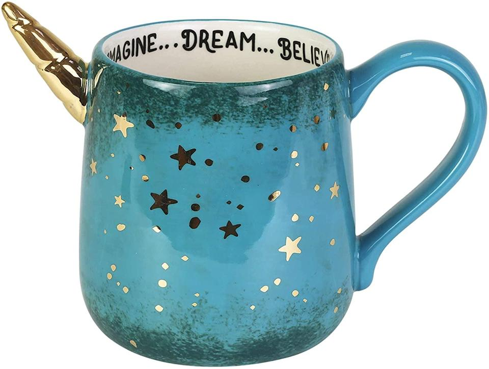 <p>The <span>Enesco Unicorn Dream Sculpted Coffee Mug</span> ($13) is hands-down gorgeous. To top it all off, it has a few inspirational words to start your mornings off on a good, positive note!</p>