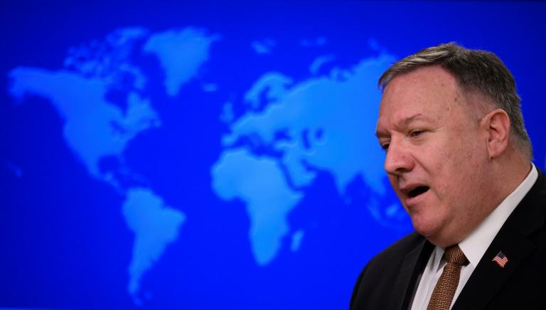 US Secretary of State Mike Pompeo has heavily criticized the coronavirus responses of China and Iran (AFP Photo/ANDREW CABALLERO-REYNOLDS)