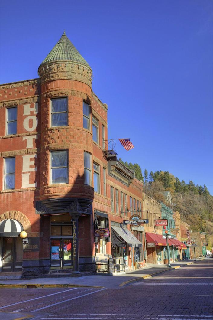 "<p>Deadwood may be a popular destination for casino gambling, but it offers much, much more. The town's surrounded by the famed <a href=""https://www.deadwood.com/thingstodo/recreation/"" rel=""nofollow noopener"" target=""_blank"" data-ylk=""slk:Black Hills area"" class=""link rapid-noclick-resp"">Black Hills area</a>, where you can find secluded forests, snowmobile trails and ski resorts. <a href=""https://www.deadwood.com/events/deadweird/"" rel=""nofollow noopener"" target=""_blank"" data-ylk=""slk:Deadweird"" class=""link rapid-noclick-resp"">Deadweird</a>, a celebration of all things odd that takes place around Halloween, is a favorite new tradition.</p>"