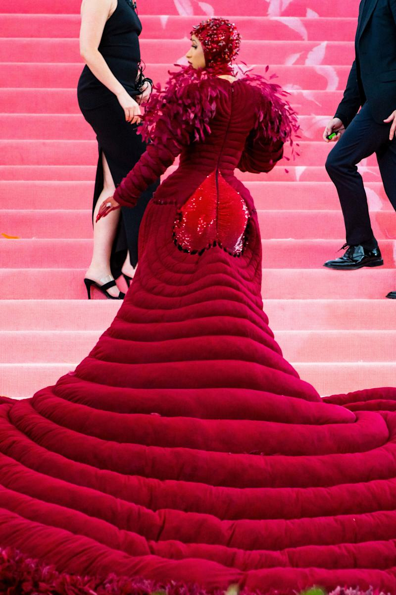 "A shot of the ""booty"" of the dress.  (Photo: Gotham via Getty Images)"