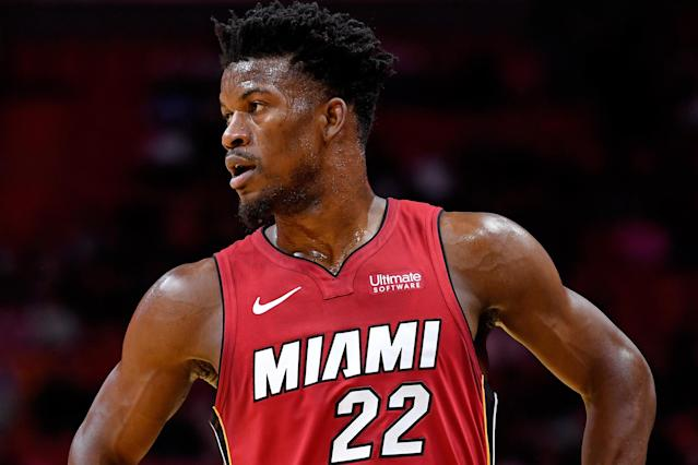 Jimmy Butler seems to have found a good fit in Miami. (Steve Mitchell/USA Today)