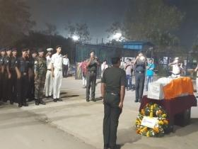 Funeral of Sepoy Tulasi Ram held in Visakhapatnam with military honours