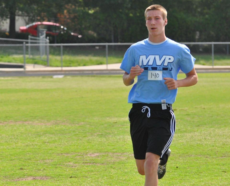 Trevor Lawrence received the Underclassman Award at MVP camp as an eighth-grader, before he began his high school quarterback career in Cartersville, Ga. [Provided by Rusty Mansell]
