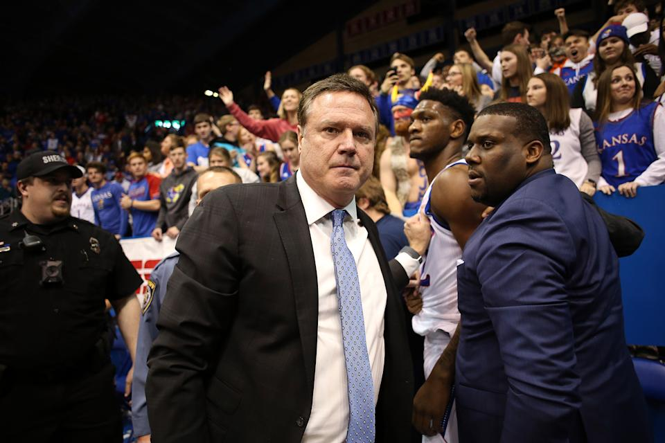 Tuesday night in Lawrence got heated. (Jamie Squire/Getty Images)