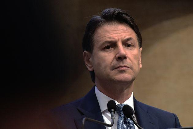 ROME, ITALY - JUNE 28:  Former Prime Minister Giuseppe Conte holds a press conference at the Tempio di Adriano on the future of the Five Star Movement, his leadership project and the problems with sponsor Beppe Grillo on June 28, 2021 in Rome, Italy.  (Photo by Simona Granati - Corbis/Getty Images) (Photo: Simona Granati - Corbis via Getty Images)