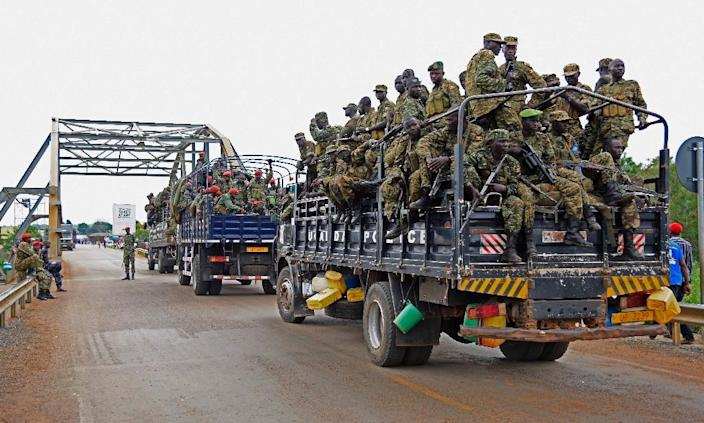The Democratic Republic of Congo said on January 15, 2017 that at least 200 former M23 (rebel group) members arrived from Uganda, though Uganda denied these allegations on January 16, 2017 (AFP Photo/Isaac Kasamani)