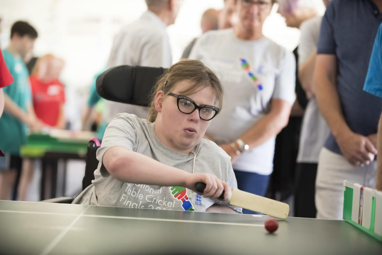 Table cricket is a version of the game played around a table tennis table