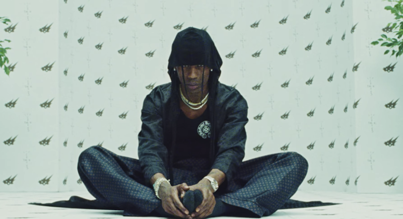 Travis Scott dans le clip de Franchise