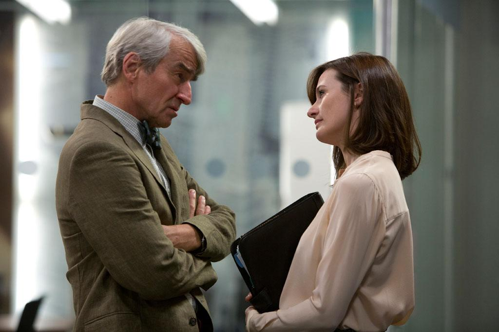 "Sam Waterston and Emily Mortimer in HBO's ""The Newsroom"" Season 2 Premiere, ""First Thing We Do, Let's Kill All the Lawyers."""